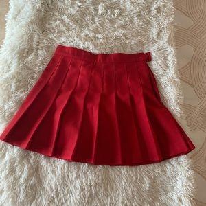 NWT American Apparel red mini Tennis skirt